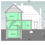Two storey rear extension in Sevenoaks